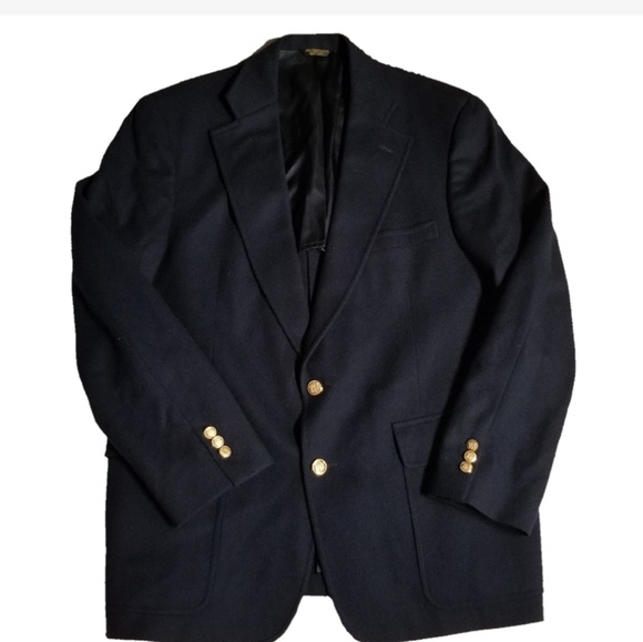 f7ed569efc62 Vtg Jack Lang Palm Beach Navy Sports Coat